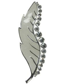 Indulgence Jewellery White leaf brooch