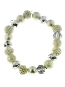 Indulgence Jewellery Coiled wire and crystal bead bracelet