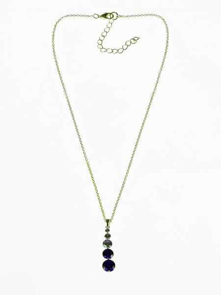 Indulgence Jewellery Purple CZ Pendant