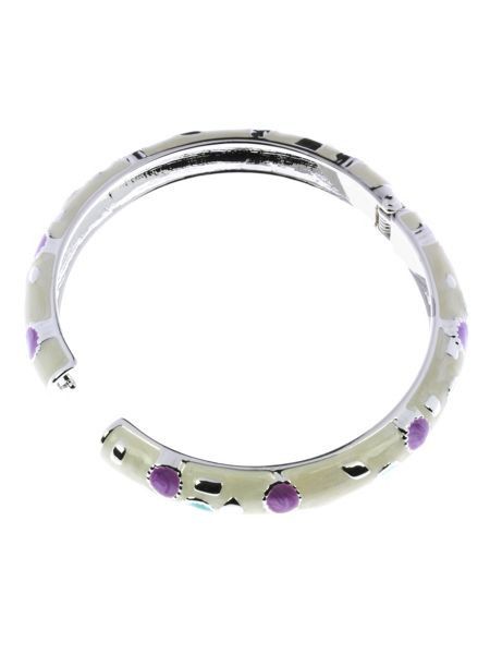 Indulgence Jewellery Green, lilac and cream round bangle