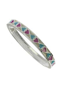 Indulgence Jewellery Cream, pink and blue oval bangle
