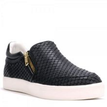 INTENSE python leather trainers
