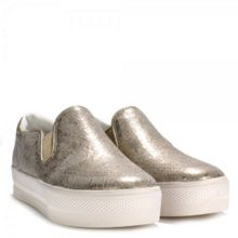 JUNGLE leather slip-on trainers