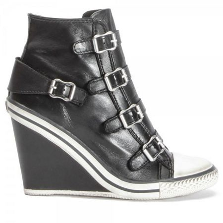 Ash THELMA wedge buckle leather trainers