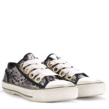 VICKY satin trainers in python