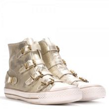 Ash VIRGIN metallic leather trainers