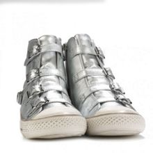 VIRGIN metallic leather trainers