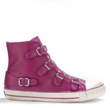 VIRGIN leather buckle trainers