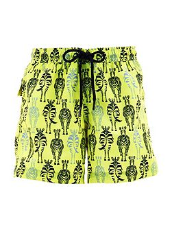 Boys UPF 50+ Zebra Swim Short