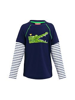 Boys UPF 50+ Crocodile Rash Vest