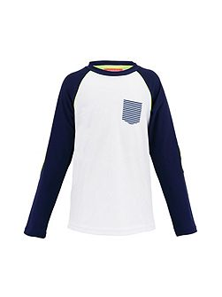 Boys UPF 50+ Navy Stripe Rash Vest