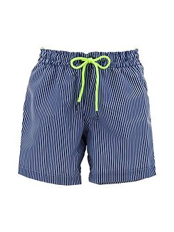Boys Navy Stripe Swim Short