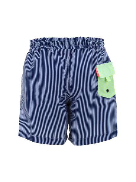 Sunuva Boys UPF 50+ Navy Stripe Swim Short