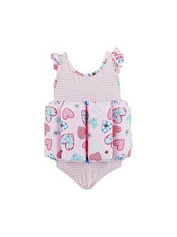 Girls Patchwork Heart Floatsuit
