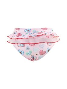 Sunuva Girls UPF 50+ Patchwork Heart Frill Pant