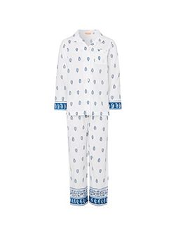 Girls Ikat Paisley Pyjama Set