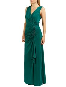 Celina wrap long dress