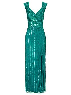 Samantha sequin long dress