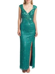 Ariella Samantha sequin long dress