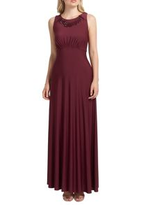 Burgundy lizzy long maxi dress