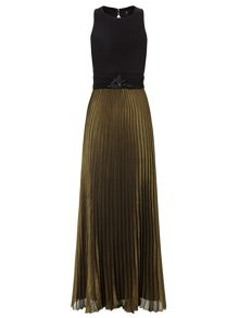 Black gold carrie long dress
