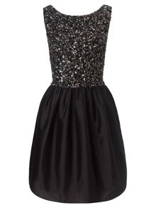 Black freya beaded prom short dress
