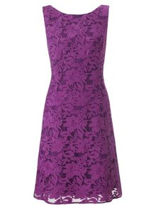 Purple tilly lace short dress