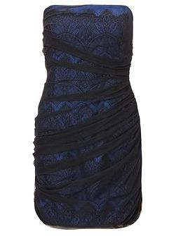 Black blue sienna chantily lace mini dress