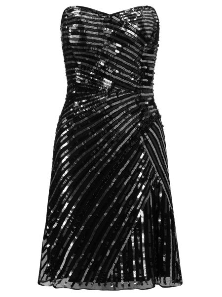 Ariella Black yasmin sequin short dress