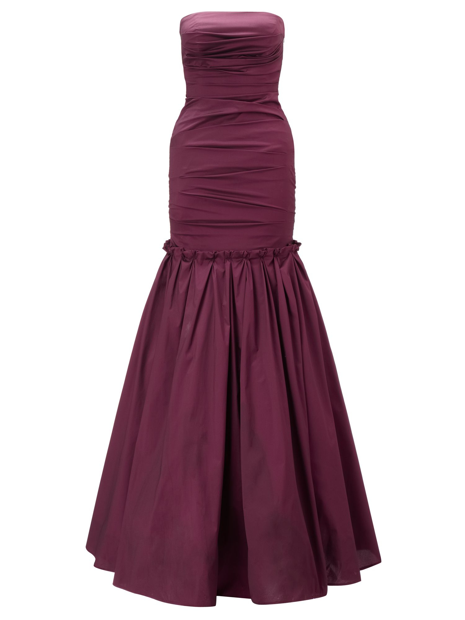 Ariella Burgundy marilea strapless long gown, Burgundy