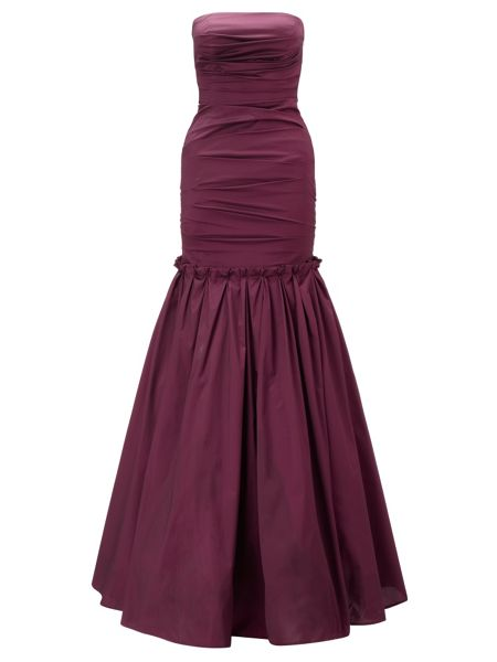 Ariella Burgundy marilea strapless long gown