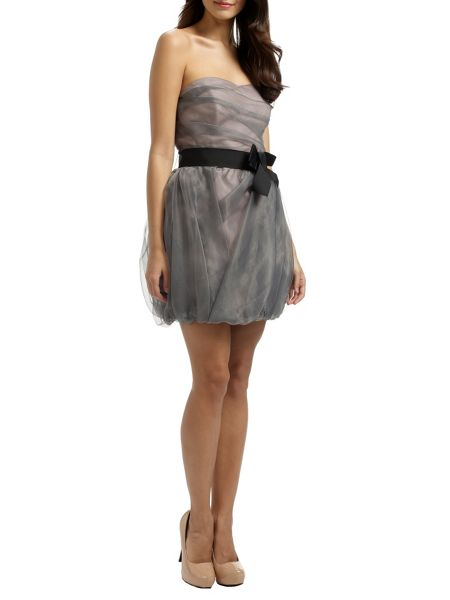 Ariella Coco Strapless Puffball Mini Dress