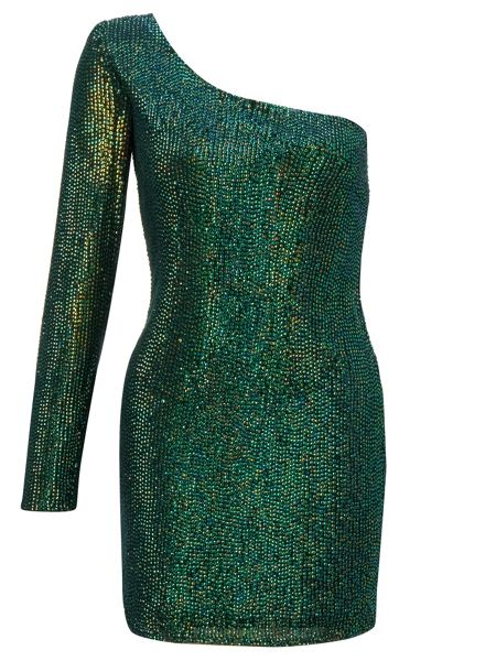 Ariella Emerald amanda sequin short dress
