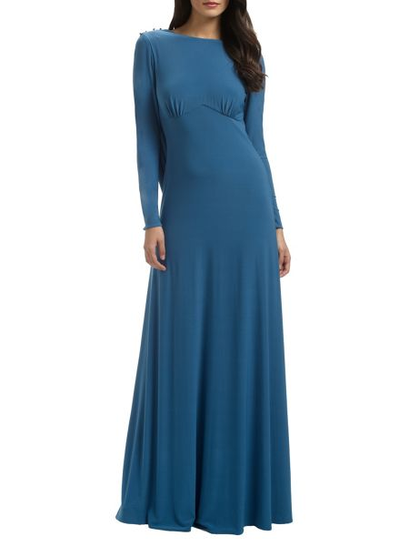 Ariella Teal diana long gown