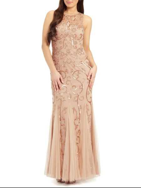 Ariella Karla sequin & beaded evening gown