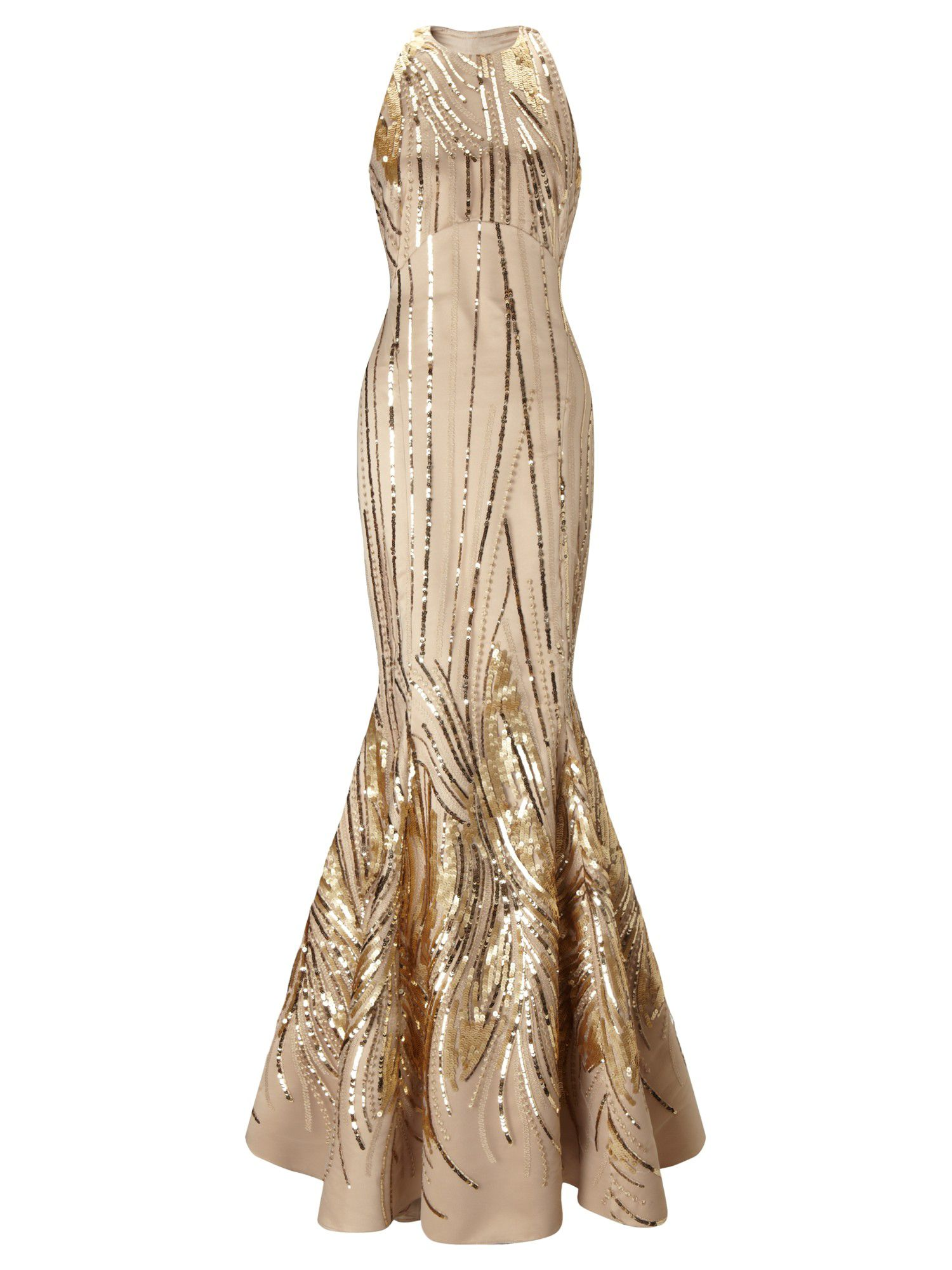 Ariella Giovanna Sequin Long Dress, Metallic