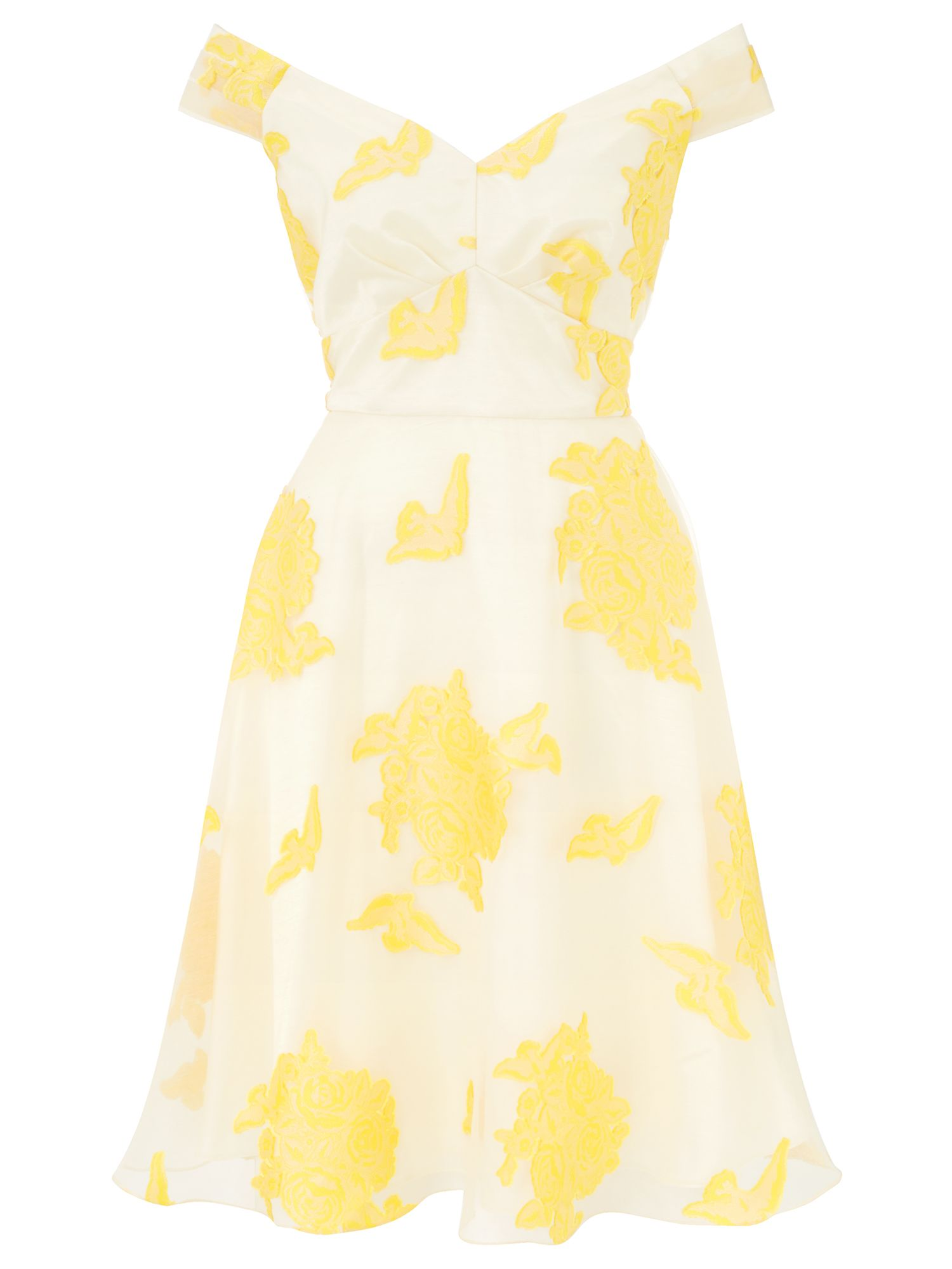 Ariella Black champagne nova prom short dress, Yellow
