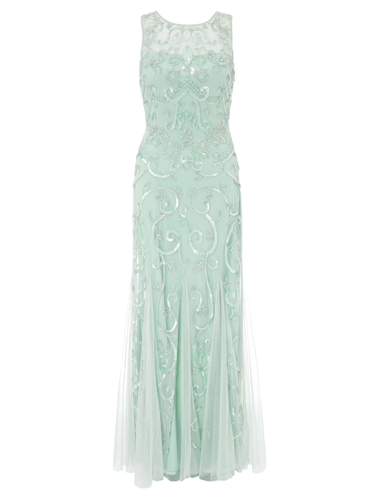 Ariella Karla Sequin  Beaded Evening Gown $295.00 AT vintagedancer.com