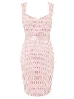 Jilly Textured Sweet Heart Midi Dress