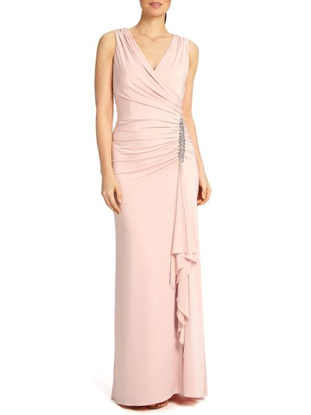 Ariella Celina wrap long dress