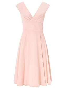 Dusky Pink Anthea Chiffon Short Dress