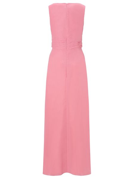 Ariella Beau Chiffon Long Dress with Neck Trim