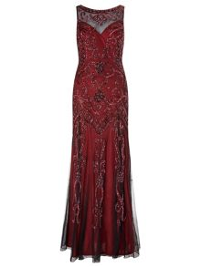 Ariella Amya Full Length Beaded Evening Gown