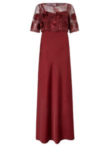 Theodora Maxi Dress with Lace Top
