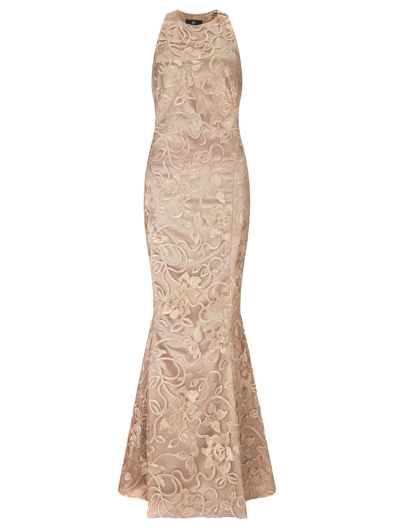 Ariella anastasia lace evening gown, Gold