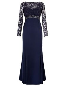 Sloane Maxi Dress With Lace Sleeves