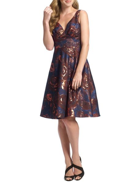 Ariella Azia Jacquard Prom Fit & Flare Dress