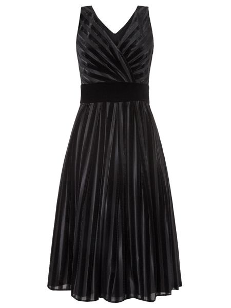 Ariella Pixie Velvet Stripe Prom Dress