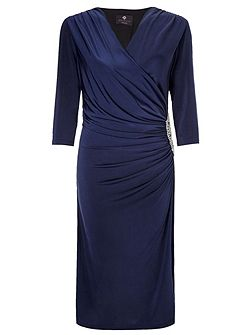 Rhoda Short Wrap Dress