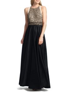 Ziana Full Skirt Dress with Embellished Top